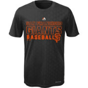 Majestic Youth San Francisco Giants Cool Base Geo Plex Black T-Shirt