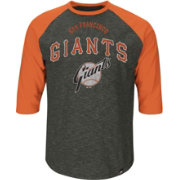 Majestic Youth San Francisco Giants Cooperstown Grey Raglan Three-Quarter Sleeve Shirt
