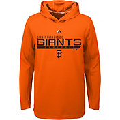 Majestic Youth San Francisco Giants Orange Paramount Jacquard Hoodie