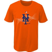 Majestic Youth New York Mets Cool Base Kinetic Logo Orange Performance T-Shirt