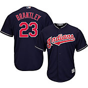 Majestic Youth Replica Cleveland Indians Michael Brantley #23 Cool Base Alternate Navy Jersey