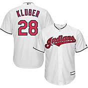 Majestic Youth Replica Cleveland Indians Corey Kluber #28 Cool Base Home White Jersey