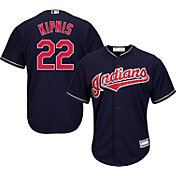 Majestic Youth Replica Cleveland Indians Jason Kipnis #22 Cool Base Alternate Navy Jersey