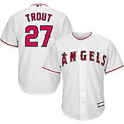 Majestic Youth Replica Los Angeles Angels Mike Trout #27 Cool Base Home White Jersey