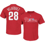 Majestic Youth Philadelphia Phillies Vince Velasquez #28 Red T-Shirt