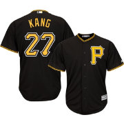 Majestic Youth Replica Pittsburgh Pirates Jung-ho Kang #27 Cool Base Alternate Black Jersey