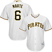 Majestic Youth Replica Pittsburgh Pirates Starling Marte #6 Cool Base Home White Jersey
