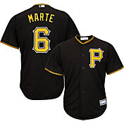 Youth Replica Pittsburgh Pirates Starling Marte #6 Alternate Black Jersey