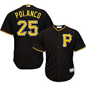 Majestic Youth Replica Pittsburgh Pirates Gregory Polanco #25 Cool Base Alternate Black Jersey