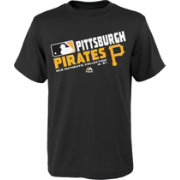 Majestic Boys' Pittsburgh Pirates Authentic Collection Black T-Shirt