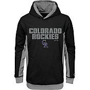 Majestic Youth Colorado Rockies Geo Strike Black Hoodie