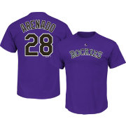 Majestic Youth Colorado Rockies Nolan Arenado #28 Purple T-Shirt