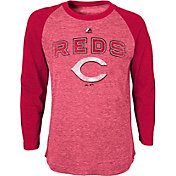Majestic Youth Cincinnati Reds Red Raglan Long Sleeve Shirt