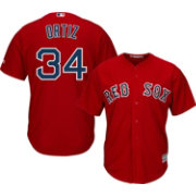 Majestic Youth Replica Boston Red Sox David Ortiz #34 Cool Base Alternate Red Jersey