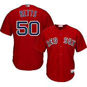Majestic Youth Replica Boston Red Sox Mookie Betts #50 Cool Base Alternate Red Jersey