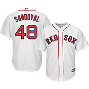 Majestic Youth Replica Boston Red Sox Pablo Sandoval #48 Cool Base Home White Jersey