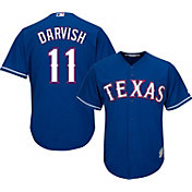 Majestic Youth Replica Texas Rangers Yu Darvish #11 Cool Base Alternate Royal Jersey