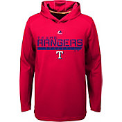 Majestic Youth Texas Rangers Red Paramount Jacquard Hoodie