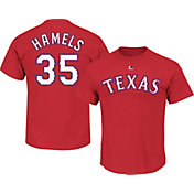 Majestic Youth Texas Rangers Cole Hamels #35 Red T-Shirt