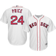 Majestic Youth Replica Boston Red Sox David Price #24 Cool Base Home White Jersey