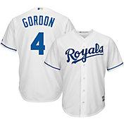 Majestic Youth Replica Kansas City Royals Alex Gordon #4 Cool Base Home White Jersey
