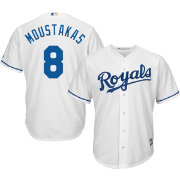Majestic Youth Replica Kansas City Royals Mike Moustakas #8 Cool Base Home White Jersey