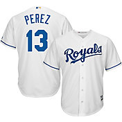 Majestic Youth Replica Kansas City Royals Salvador Perez #13 Cool Base Home White Jersey