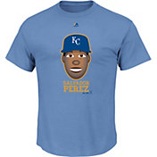 Majestic Youth Kansas City Royals Salvador Perez Emoji Light Blue T-Shirt