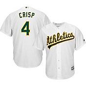 Majestic Youth Replica Oakland Athletics Coco Crisp #4 Cool Base Home White Jersey