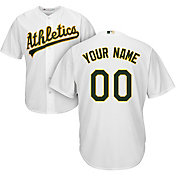 Majestic Youth Custom Cool Base Replica Oakland Athletics Home White Jersey