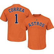 Majestic Youth Houston Astros Carlos Correa #1 Orange T-Shirt