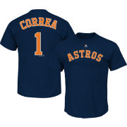 Majestic Youth Houston Astros Carlos Correa #1 Navy T-Shirt