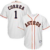 Majestic Youth Replica Houston Astros Carlos Correa #1 Cool Base Home White Jersey