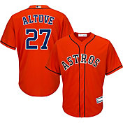 Majestic Youth Replica Houston Astros Jose Altuve #27 Cool Base Alternate Orange Jersey