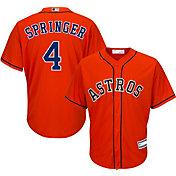 Majestic Youth Replica Houston Astros George Springer #4 Cool Base Alternate Orange Jersey