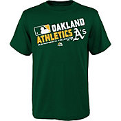 Majestic Boys' Oakland Athletics Authentic Collection Green T-Shirt