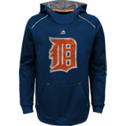 Majestic Youth Detroit Tigers Navy Paramount Pullover Hoodie