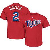 Majestic Youth Minnesota Twins Brain Dozier #2 Red T-Shirt