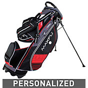 Maxfli U/Series 4.0 Personalized Stand Bag – Black/Charcoal/Red