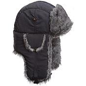 Mad Bomber Men's Grey Supplex Faux Fur Bomber Hat