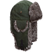 Mad Bomber Men's Moss Green Waxed Cotton Bomber Hat