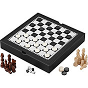 Mainstreet 3-in-1 Game Set with Chessman Storage Case