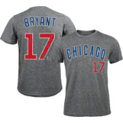 Majestic Threads Men's Chicago Cubs Kris Bryant Grey T-Shirt