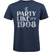 "Majestic Threads Men's Chicago Cubs ""Party Like It's 1908"" Navy T- Shirt"