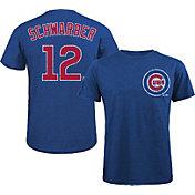 Majestic Threads Men's Chicago Cubs Kyle Schwarber #12 Royal T- Shirt