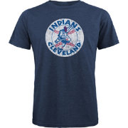 Majestic Threads Men's Cleveland Indians Navy T- Shirt