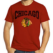 Majestic Threads Men's Chicago Blackhawks Red Logo T-Shirt