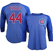 Majestic Threads Men's Chicago Cubs Anthony Rizzo Royal Raglan Three-Quarter Shirt