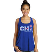 Majestic Threads Women's Chicago Cubs City Flag Royal Tank Top