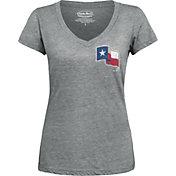 Majestic Threads Women's Texas Rangers Grey V-Neck T-Shirt
